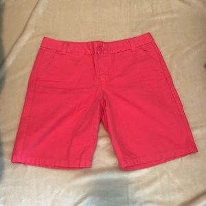 Red Pink Neon Khaki by Gap Boyfriend Bermuda Short